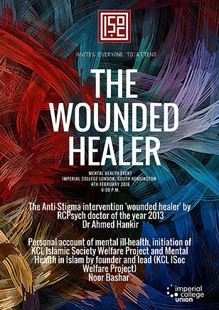 "Image of a ""The Wounded Healer"" poster"