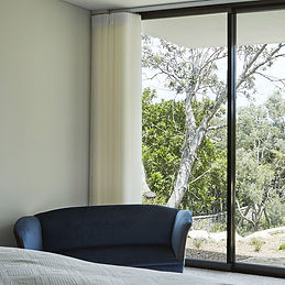 Veri Shades installed in a wide glass window
