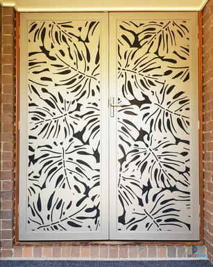 Monstera Champagne Double Doors Decoview