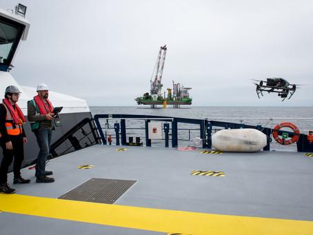 Saint Nazaire : un drone à la mer !