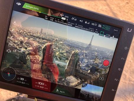 Tournage drone Paris – Arc de Triomphe