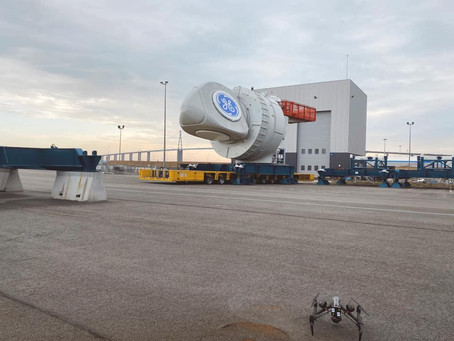 Tournage drone à Nantes Saint Nazaire pour EDF et General Electric !