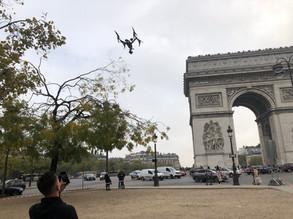 prise de vue drone arc triomphe