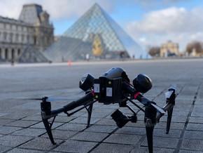 le louvre drone prise de vue