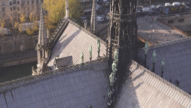 Cathedrale Notre dame drone paris
