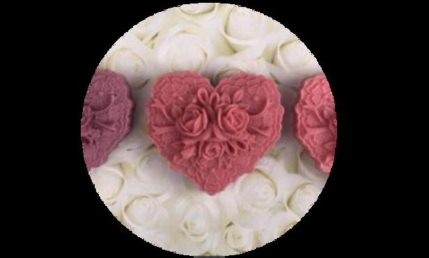 Heart Shape & Flower Soap