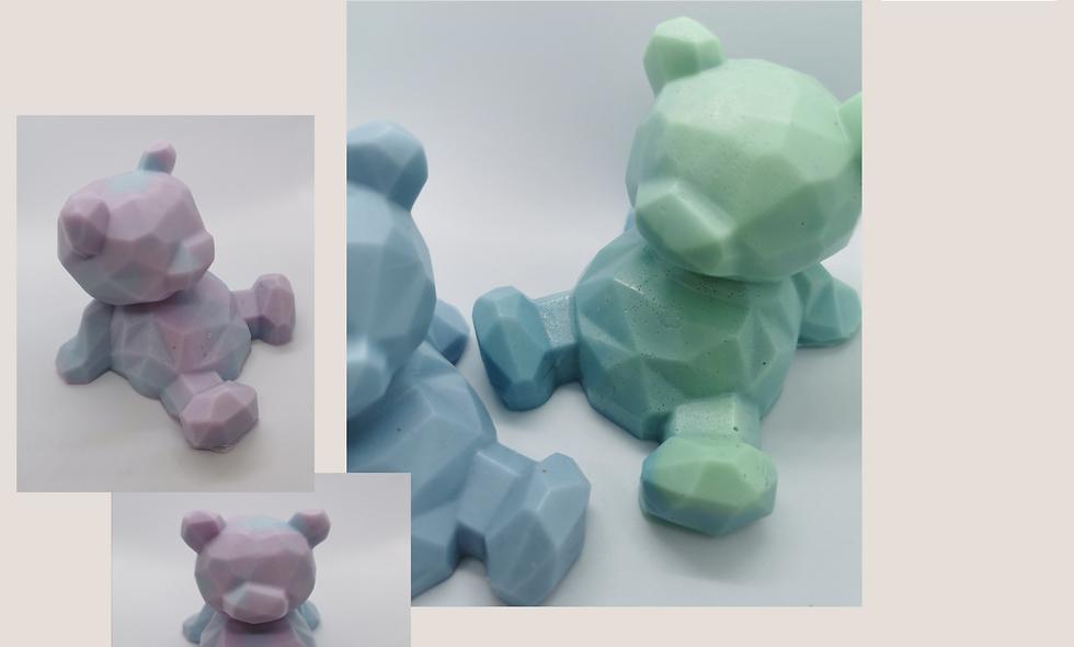 3D Geometric large bear soap