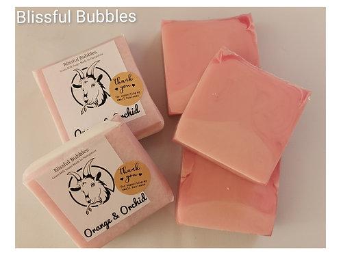 Orange & Orchid Soap Slice
