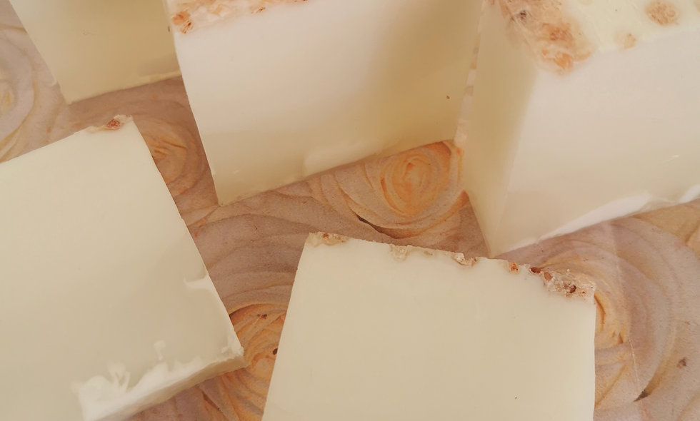 Fragrance & Colour Free Goats Milk Soap with Himalayan Salt.