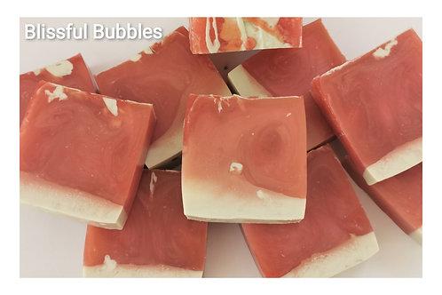 Rose & Geranium Soap Slice