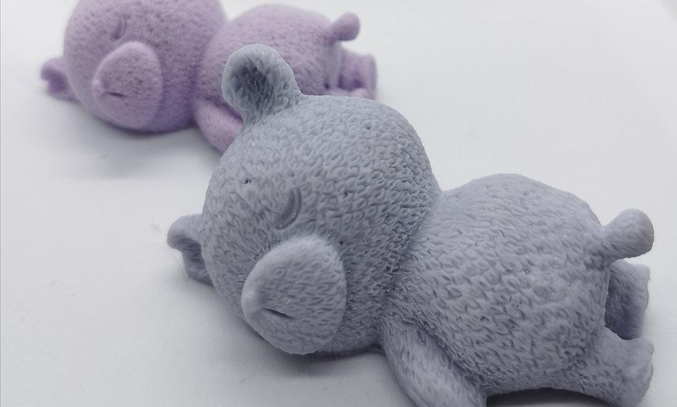 Sleeping bear soap