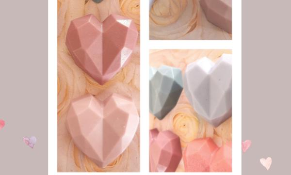 3D Geometric Heart Soap