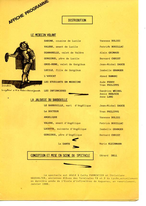 1988 Farces de Molière