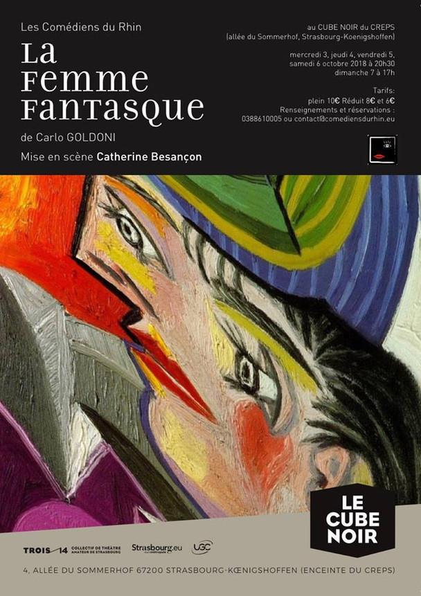 """2018:  """"la femme fantasque"""" de C. Goldoni"""