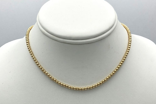 3mm Gold Filled Beaded Necklace
