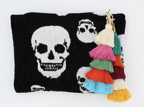 Alexander McQueen Skulls Towel Clutch