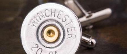 Winchester 20 Gauge Shotgun Cufflinks