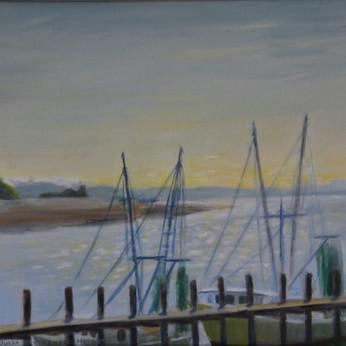 Shrimp Boats at Thunderbolt 12x16