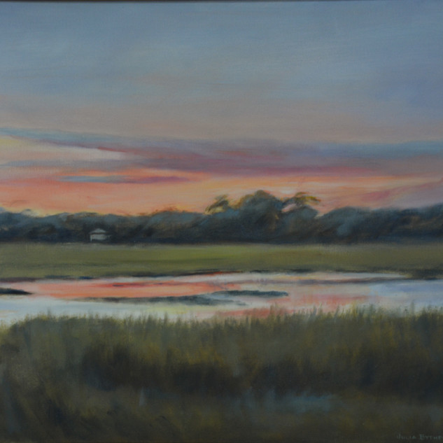 Sunset over Turner's Creek 24x36