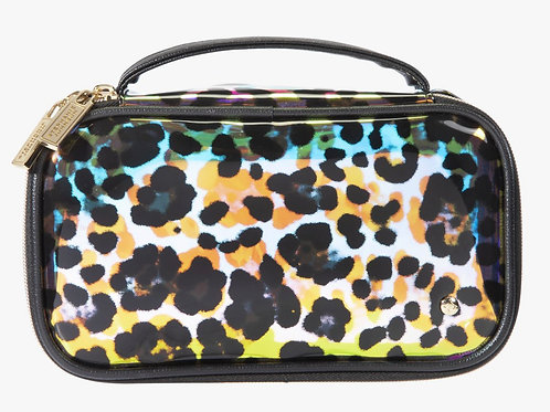 Cheetah Holograph Medium Makeup Bag