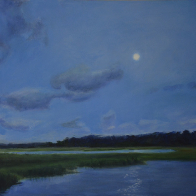 Moon Over Bradley Creek