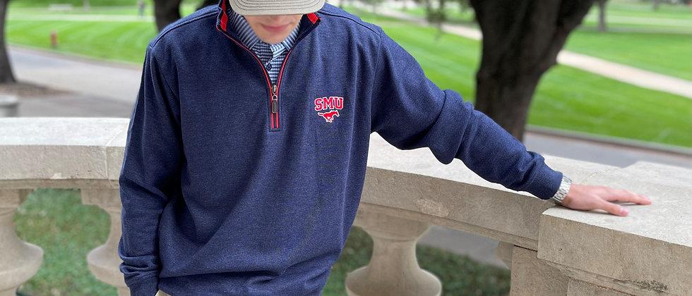 SMU Solid Quarter Zip Pullover