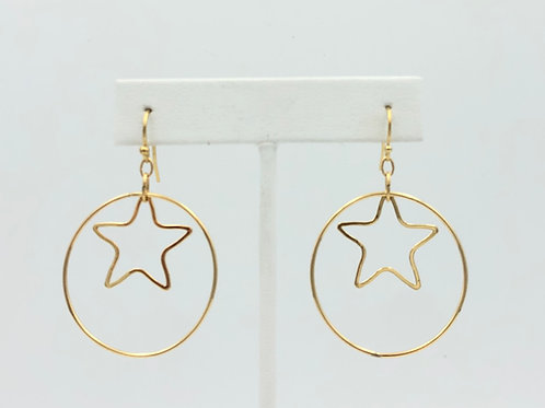 Star + Hoop Earrings