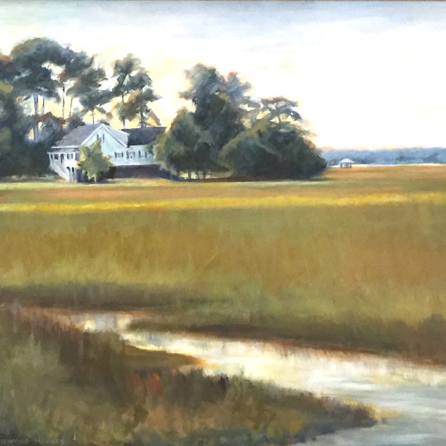 Beaufort Marsh View with White House