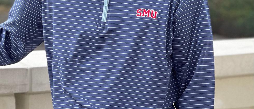 SMU Striped Quarter Zip Pullover