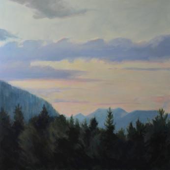 Glacier Park Evening View 30x30