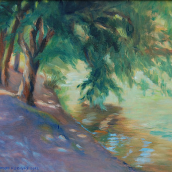 Horseshoe Bend Tree Over River SOLD