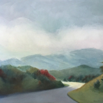 Mountain View leaving Asheville 24x36