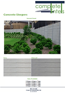 Complete Lintels Building Supplies | Concrete Sleepers Smooth Finish