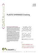 Plastic Shrinkage Cracking Brochure Cove
