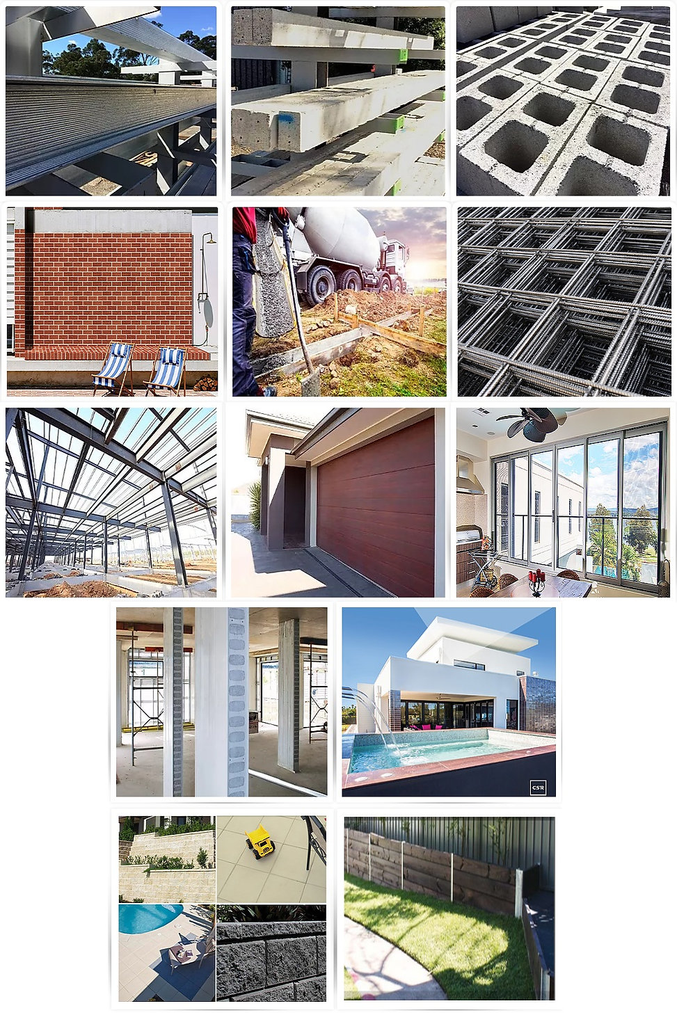 Complete Lintels Building Supplies | Galintels, Concrete Lintels, Blocks, Bricks, Premix Concrete, Mesh Bar Accessories, Structural Steel, AFS Rediwall, Hebel, Garage Doors, Windows