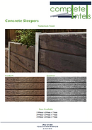 Complete Lintels Building Supplies | Concrete Sleepers Timber Look Finish