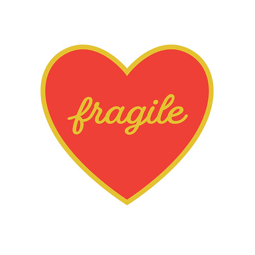 Fragile Heart Enamel Pin