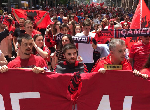 THE MARCH FOR CHAMERIA IN NEW YORK – VATRA PARTICIPATES AND PAYS TRIBUTE TO THE ARBERESH PARADE