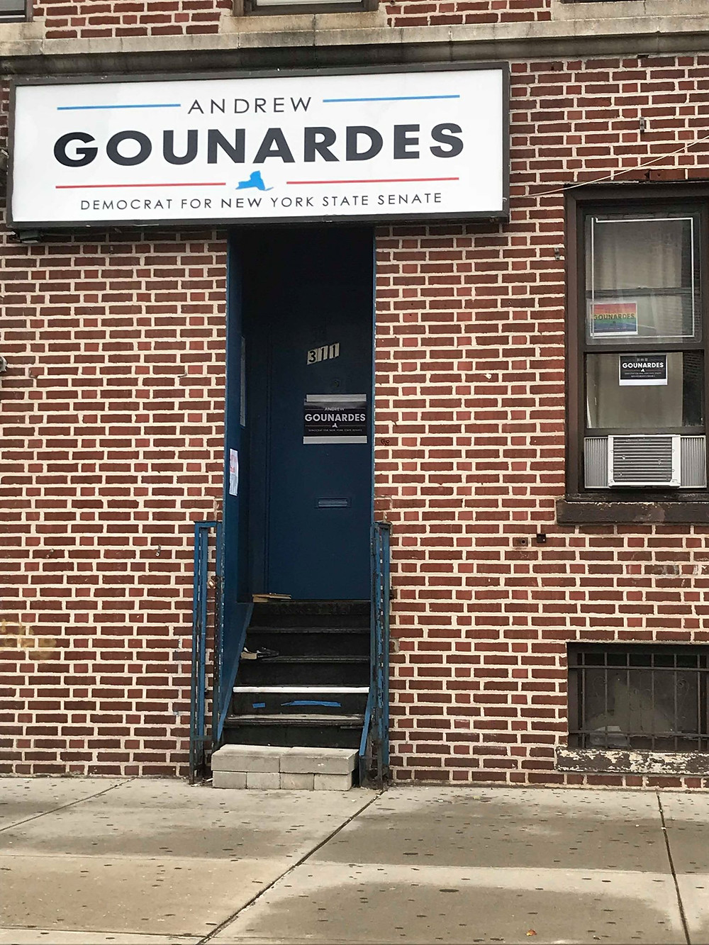 Andrew Gounardes inaccessible campaign HQ
