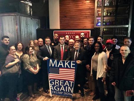 Congressman Michael Grimm & Joe DioGuardi speak at NYC Republicans Social - Times Square