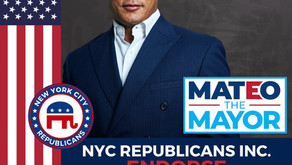 NYC REPUBLICANS ENDORSES FERNANDO MATEO FOR NYC MAYOR!