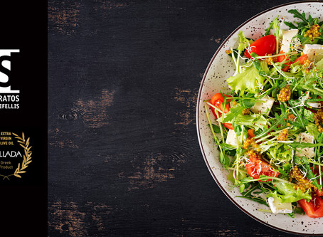 Δροσερή Σαλάτα με Εξαιρετικό Παρθένο Ελαιόλαδο Premium Ποιότητας Pallada