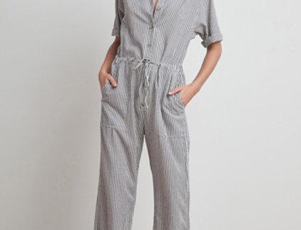 Leann Stripe Jumpsuit by Velvet