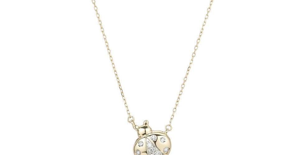 Adina Reyter Pave Ladybug Necklace