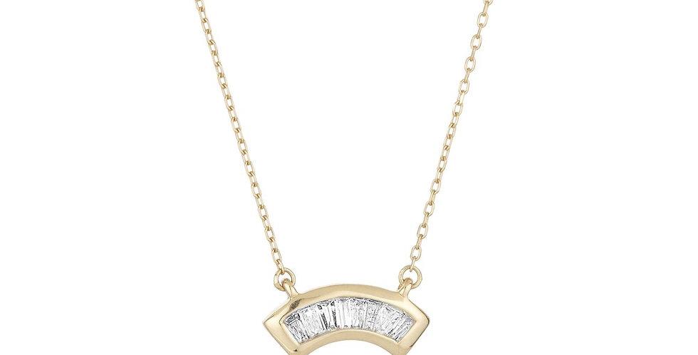 Adina Reyter Heirloom Baguette Arc Necklace