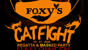 """It's a 'Mask """"R"""" Ade' party and Regatta! Join us at Foxy's!"""