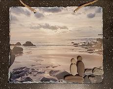Slate Photo Pebble Art