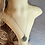 Thumbnail: Green Sea Glass Heart Carved Necklace