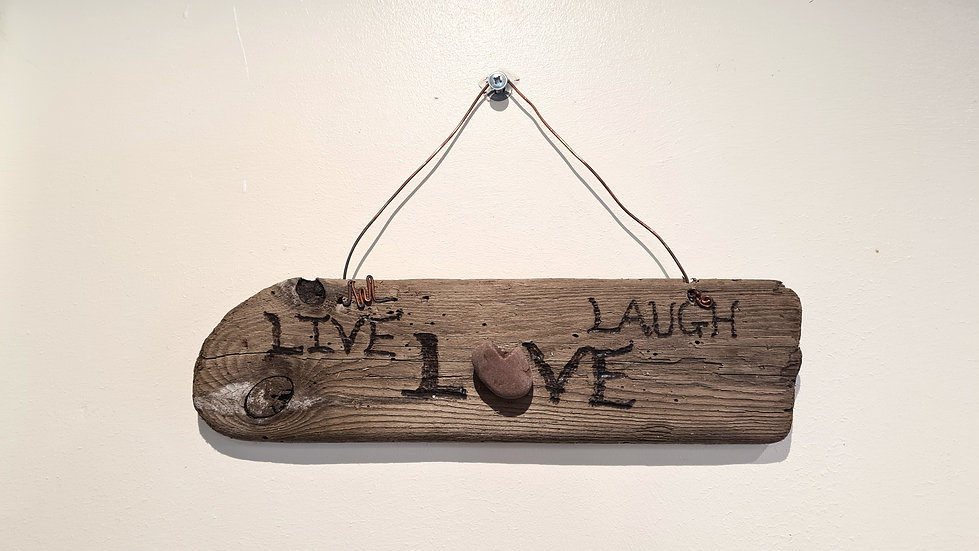 Live Laugh Love Driftwood Sign