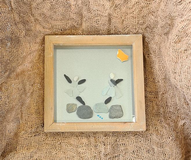 Pebble & Sea Glass Dancers